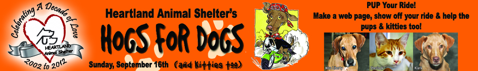 PUP Your Ride!  HOGS for Dogs & Kitties Too!  2012 banner