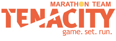 Tenacity Marathon Team - game. set. RUN. banner