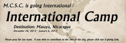 Nicaragua Mission Trip banner