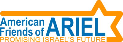 Running for Ron with American Friends of Ariel banner