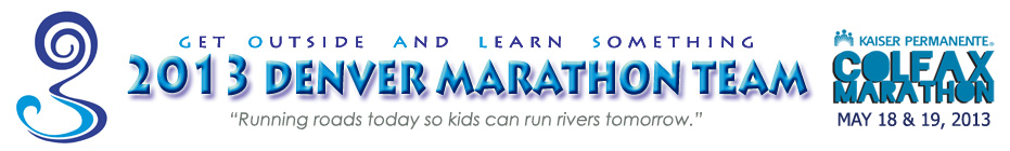 THE 2013 GOALS DENVER MARATHON TEAM! banner