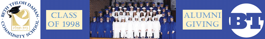 Beth Tfiloh Alumni Class of '98 banner