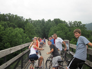 Elizabethtown COB Youth for 3,000 Miles for Peace banner