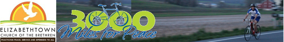 E-town COB Rides For Peace banner
