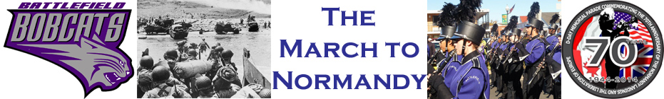 March to Normandy banner
