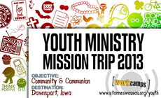 2013 Summer Youth Mission Trip banner