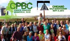 Toward the Finish Line | Chicago Half Marathon/5K, Chuck Frasier Memorial banner