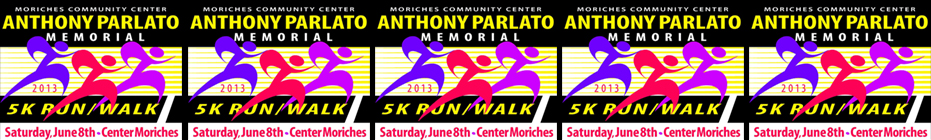 The Moriches Community Center Anthony Parlato Memorial 5K Run / Walk banner