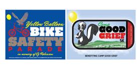 Team Angela- Baptist Trinity Camp Good Grief 5k and Bike Safety parade banner