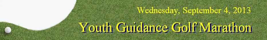 Youth Guidance Golf Marathon 2013 banner