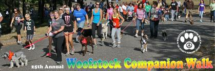 25th Annual Woofstock Companion Walk banner