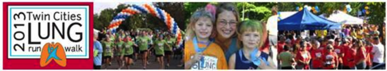 2013 Twin Cities Lung Run Walk banner