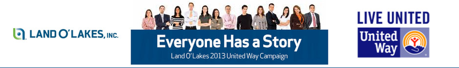 2013 Land O'Lakes United Way Campaign banner