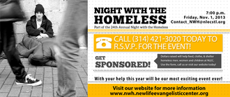 Night with the Homeless 2013 banner