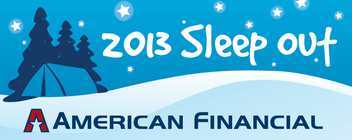 American Financial 2013 Sleep Out banner