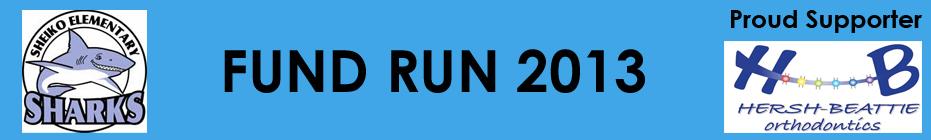 5th Grade Sheiko School Fund Run 2013 banner