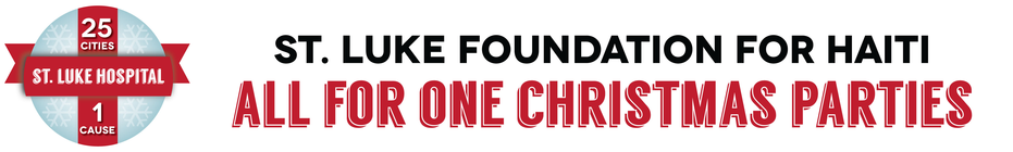 All for One St. Luke Christmas Parties and #GivingTuesday banner