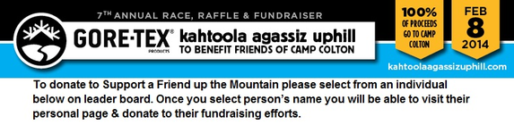 Support a Friend up the Mountain (SFUM) banner