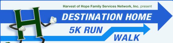 TEAM Harvest of Hope Destination Home 5K 2014 banner
