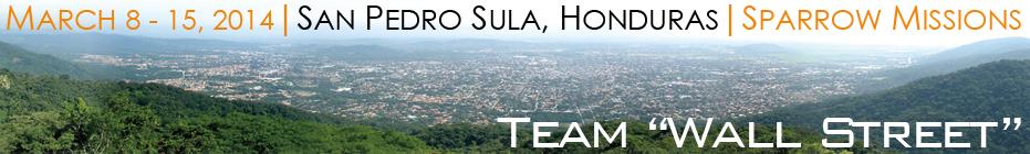 "Team ""Wall Street"" Honduras Mission banner"