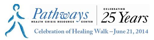Pathways 25th Anniversary Celebration of Healing Walk banner