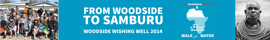 Woodside Walk for Water 2014 banner