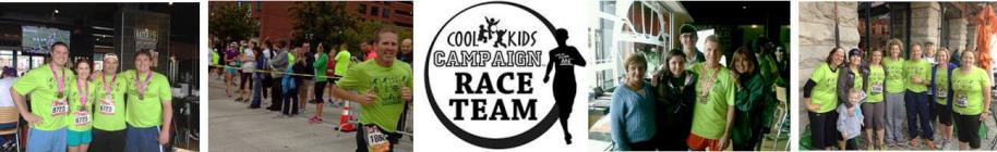 2014 Team Cool Kids Campaign at the Baltimore Running Festival banner