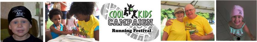 Cool Kids Campaign Running Festival banner