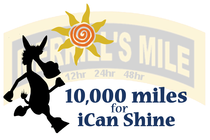 10,000 Miles for iCan Shine banner