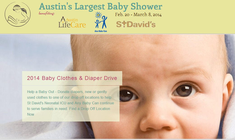 Austin's Largest Baby Shower banner