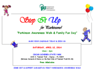 STEP IT UP for Parkinson's banner