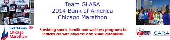 Team GLASA- Chicago Marathon banner