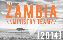 707 Zambia Mission Trip 2014 banner