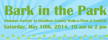Bark in the Park WALK-A-THON banner
