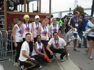 Team Shanti Runs for Compassion during the 2014 San Francisco Marathon banner