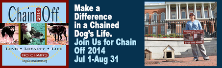Chain Off 2014: Team Tami for Chained Dogs banner
