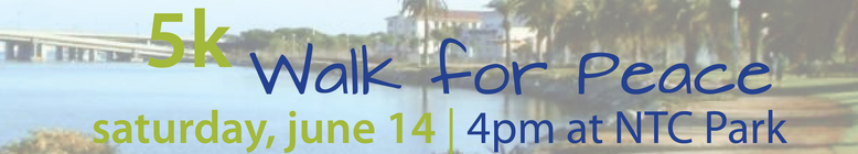 Walk for Peace 2014 banner
