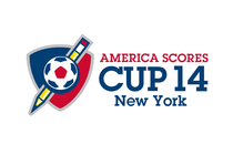 America SCORES New York Cup 2014 banner