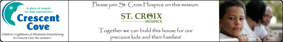Let's build this house! St. Croix Hospice TCM Team banner