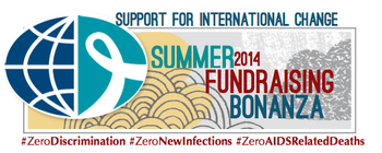 Support for International Change SUMMER FUNDRAISING BONANZA! banner