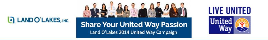 2014 Land O'Lakes United Way Campaign banner