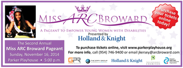 Second Annual Miss ARC Broward Pageant banner