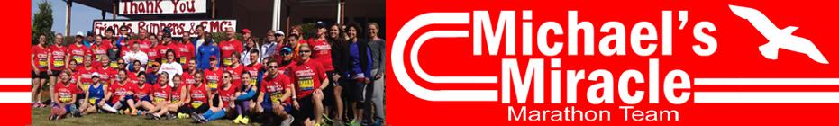 2015 Michaels Miracle Marathon Team banner