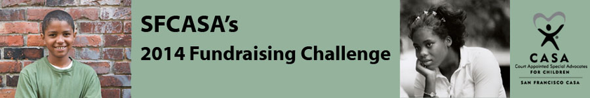 SFCASA 2014 Fundraising Challenge - Every Gift is Doubled! banner