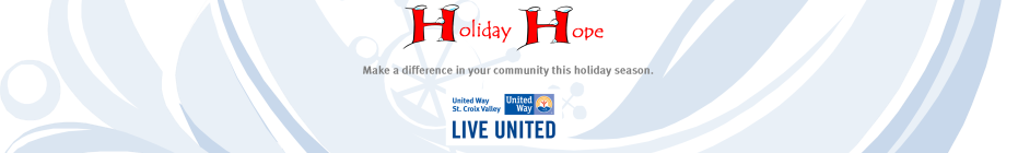 United Way St. Croix Valley Holiday Hope 2014 banner
