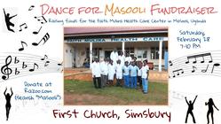 First Church Simsbury DANCE FOR MASOOLI!!! banner