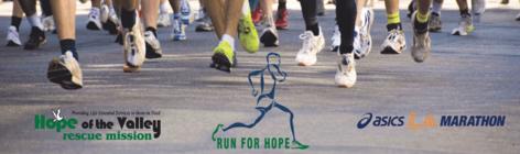 LA Marathon- Run for Hope banner