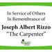 In Memory of Joseph Albert Rizzo