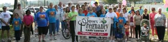 SPCC Volunteers Fundraising for 2015 WALK for LIFE banner