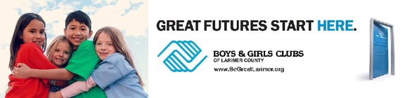 Helping the Boys & Girls Clubs of Larimer County banner